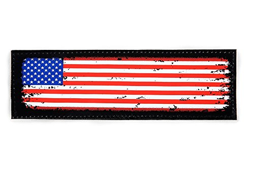 Julius-K9 Patch with Hook and Loop Fastener, Small, USA Flag