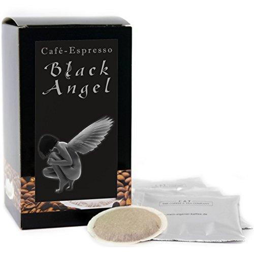 C&T Premium Kaffeepads Espresso Black Angel 30 Stück | Pads für Senseo Kaffeemaschine | Dunkel Geröstet | Würzig | Kräftig | Perfekte Crema | Schonend geröstet in eigener Privatrösterei
