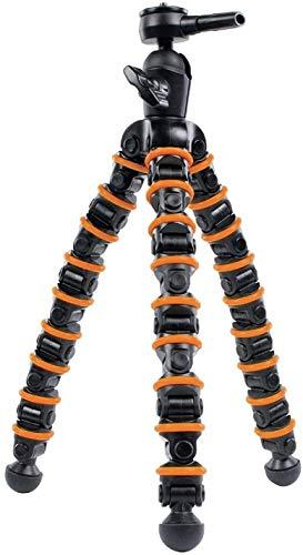 Eurosell Trípode flexible de 32,5 cm para mesa/exterior, dispositivo de nivelación láser y nivel de burbuja de línea cruzada para Bosch Dewalt Makita Flex Leica Nedo Stanley