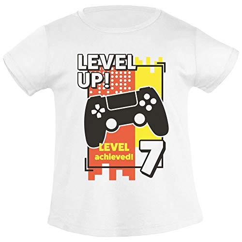 7e verjaardag meisje Level Up Leves Archieved 7 meisje T-shirt