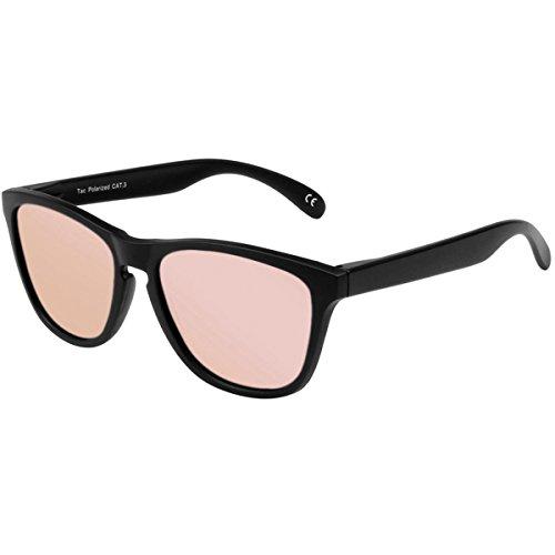 FEIDU Retro Polarisierte Damen Sonnenbrille Herren Sonnenbrille Outdoor UV400 Brille für Fahren Angeln Reisen FD 0628 (Rosa, 60)