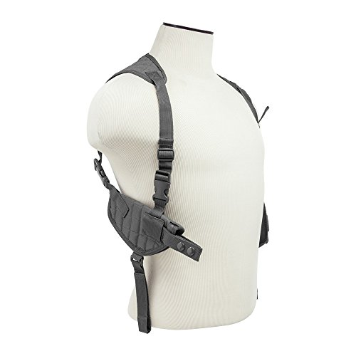 M1SURPLUS Stealth Grey Color Adjustable Ambidextrous Shoulder Holster with Mag Pouches fits Hk VP9 VP40 P2000 P30 Full Size Pistols