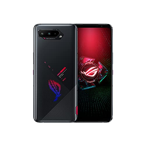 Asus ROG Phone 5 (ZS673KS/I005DA) 5G / Dual SIM / 256GB + 16GB RAM/SIMフリー/Tencent 版 with Google Play / リフレッシュレート144Hz / ゲーミングスマホ (Phantom Black/ブラック)