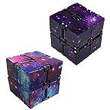 Nuryme Zappel Cube, Infinity Cube Galaxy Mini ABS Finger Spielzeug Angstentlastung Geeignet für...