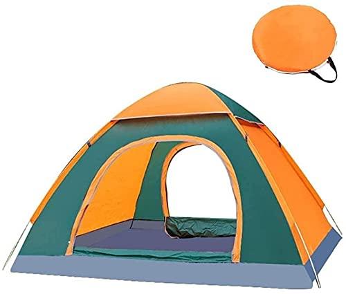 3~4 Persona Automatic Inglés Pop Tent Up, A Prueba De Viento Portátil Playa Impermeable Tienda Tienda De Sol UV Protección para Jardín Familiar/Camping/Pesca (Color : Orange 3)