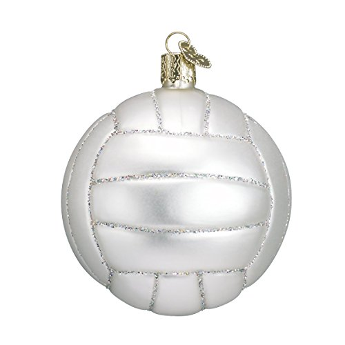 Old World Christmas 2021 Christmas Ornament Volleyball, Glass Blown Tree