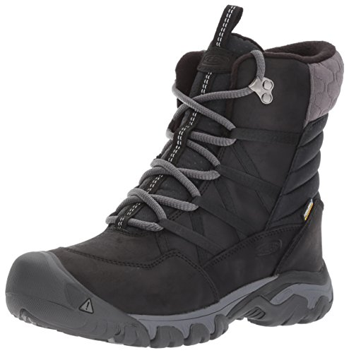 KEEN Women's Hoodoo iii lace up-w Snow Boot, Black/Magnet, 10 M US