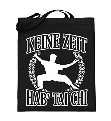 Geen tijd - Hab' Tai Chi - jute zak (met lange hengsels)