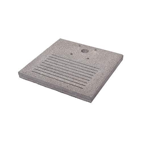 Bel-Fer Base Quadrata in Cemento Modello 42/BSE/7, con fenditore per Scarico a Perdere, per fontane