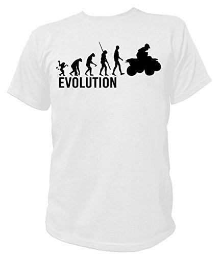 Artdiktat Herren T-Shirt - Evolution ATV Quad Größe XXXL, weiß