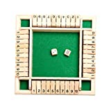 4-Way Slight The Box Dice Game 4 Sided Large Book Board juego...