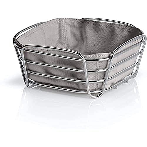 blomus 63667 Bread Basket Delara 20x20x10 cm in taupe, Stainless-Steel