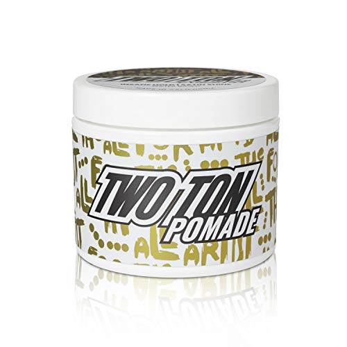 Hanz de Fuko TWO TON Insane Hold Pomade - Water Based, Satin Finish, Strong Hold Hair Pomade