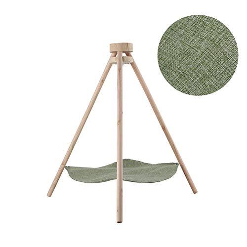 VIUNCE Pet Wo – massief hout driehoekig kattentoilet kat hammock/zomer-Breathable hangstoel nest/kattenbenodigdheden/huisdier-ophangbed