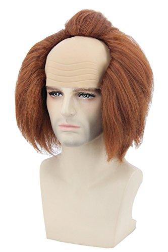 Lemarina adulti o ragazzi e parrucca marrone breve afro clown Joker parrucche Cosplay costumi di Halloween