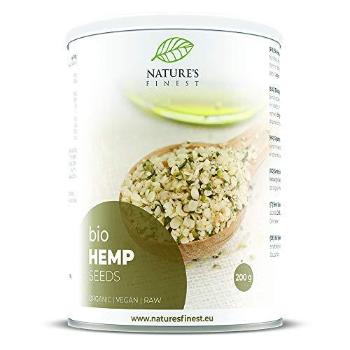 Nature's Finest Semillas de cáñamo sin cáscara bio 200g | Superalimento orgánico puro | Vegetariano y vegano