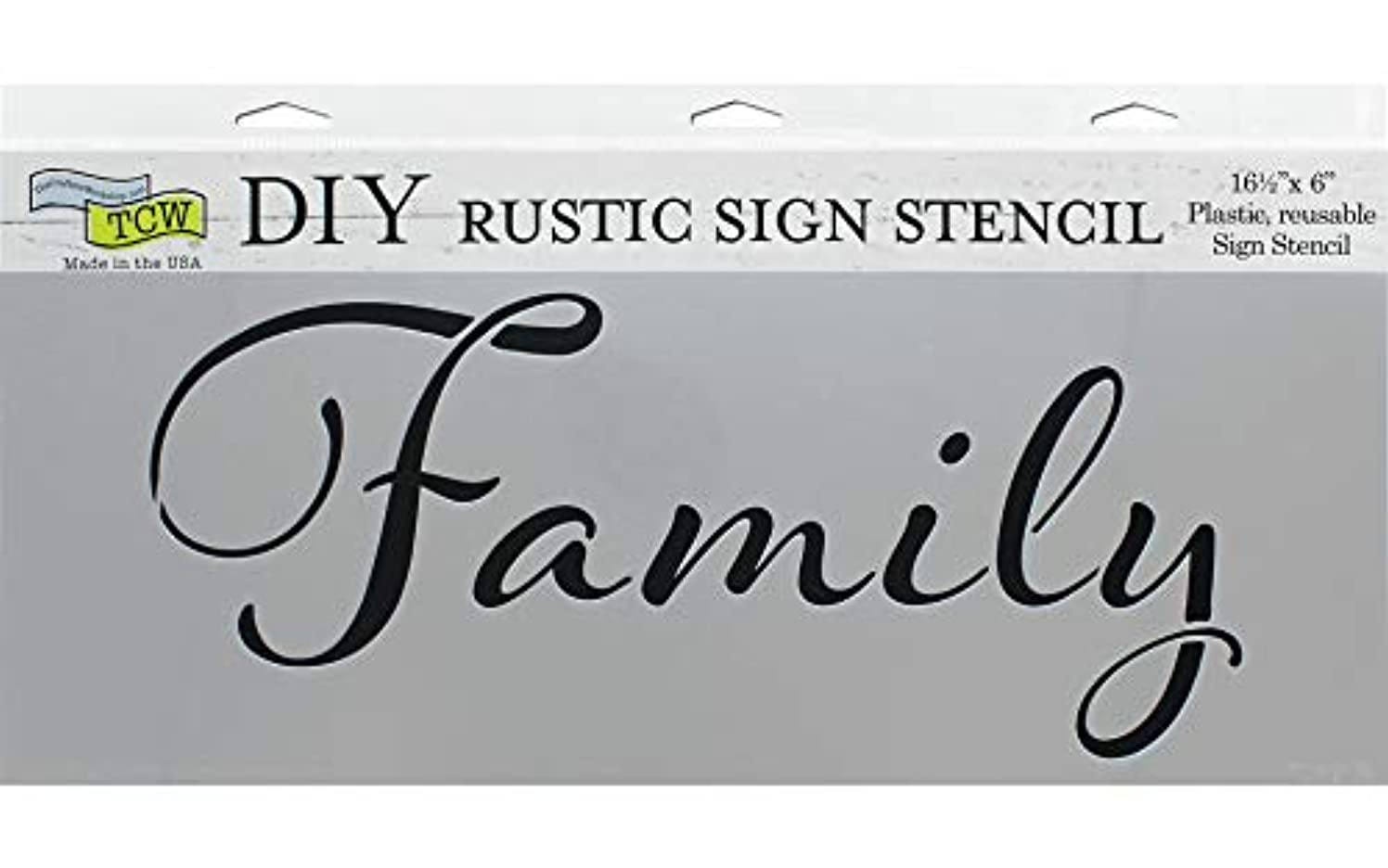 Crafter's Workshop, The TCW2176 Stencil 16.5x6 Family, None