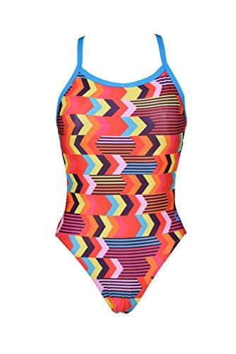 ARENA Damen Geocentric Challenge Back MaxLife One Piece Swimsuit Einteiliger Badeanzug, Geozentrisch Türkis Multi, 40