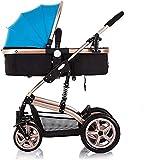 Cochecito de bebé ligero con sistema de viaje para todo el terreno, silla de paseo compacta con construcción duradera, plegable, antigolpes, alta vista