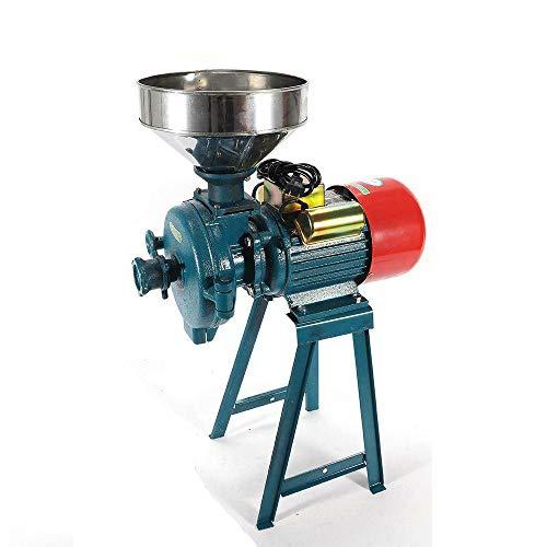 Thaweesuk Shop 2200W Electric Mill Wet Dry Grinder Machine For Corn Grain Wheat Coffee Cutter 110V Iron Galvanized Drill Diameter 150 mm. of Set