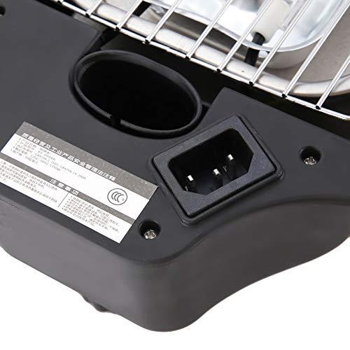 Parrilla eléctrica, aleación de aluminio 46 * 32.2 * 2.5 cm Parrilla eléctrica cubierta