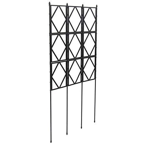 広げるだけのかんたんトレリス フェンスにも 組み立て不要で設置もかんたん! ローズトレリス 幅60cm×高さ150cm (150cm)