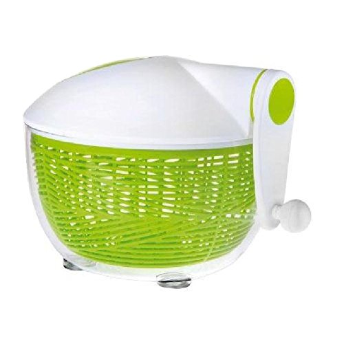 IBILI Salatschleuder Essential 26 cm aus Kunststoff, weiß/grün, 26 x 26 x 5 cm