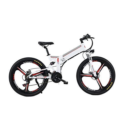 Heatile Opvouwbare elektrische bike lithium-accu 48 V, 12 Ah, ledverlichting voor en achter, frame van aluminiumlegering, geschikt voor de dagelijkse frequentie, sporten