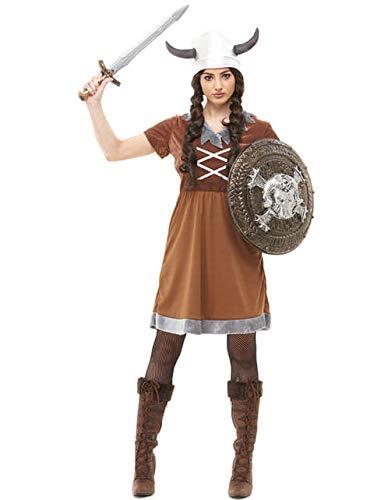 Funidelia | Wikinger Kostüm für Damen Größe M ▶ Nordisch, Walküre, Barbaren, Vikings - Braun