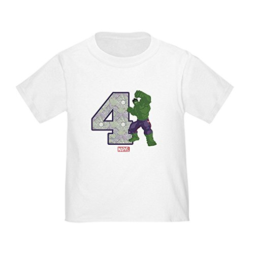 CafePress Hulk Birthday Age 4 Toddler Tee