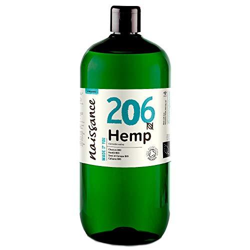 Naissance Hanfsamenöl BIO (Nr. 206) 1 Liter (1000ml) – nativ, kaltgepresst, 100{aa2fa427e18d39ab5a65fe06611619d8b5c63b344f95cd4bedf5f3529bb9dcff} rein – vegan und tierversuchsfrei – reich an Omega-3 und Omega-6