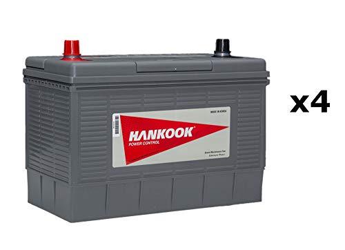4x Hankook XL31S 12V 130Ah Batterie Decharge Lente Pour Loisir Caravane et Camping Car - 330x172x242