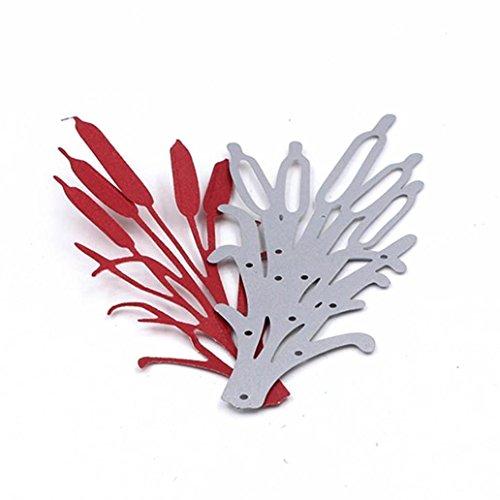 Yonisun Cattail Plant Style DIY Cutting Dies Stencils Scrapbooking Photo Album Crafts
