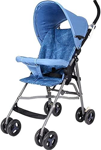 Silla de cochecito de cochecito de cochecito plegable de cochecitos livianos, vehículos de viaje de viaje de bebé, cochecitos livianos para bebés de verano, plegado de una mano con ruedas de cochecito