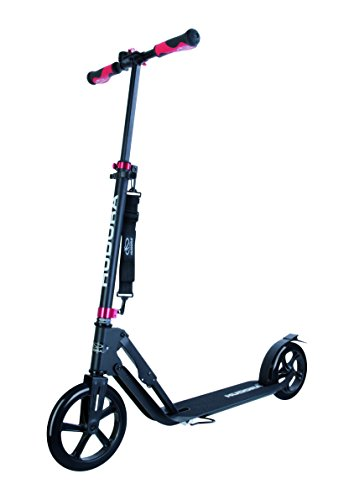 Hudora 230 Adult Kick Scooters with Big 230mm Front PU Wheel, Easy Folding, Height Adjustable, Reinforced Deck (Not Electric Scooter)