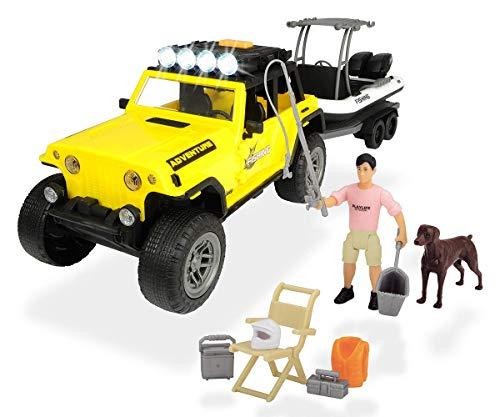Dickie Toys 203838001 - Playlife visset, Jeepster Commando SUV met boot en figuren, 41 cm