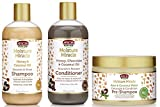 African Pride Moisture Miracle Pre-Shampoo Detangle & Conditioner, Shampoo and Conditioner SET of 3, Coconut Oil, Honey, Chococlate, Coconout Oil, Aloe & Coconut Water