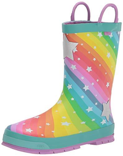 Western Chief Kids Girl's Superstar Rain Boots (Toddler/Little Kid/Big Kid) Teal 10 Toddler M