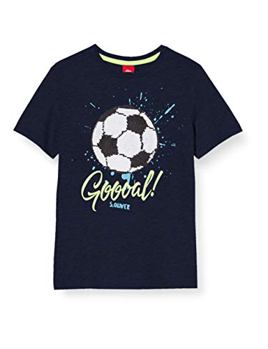 s.Oliver Junior Jungen 404.11.899.12.130.1278030 T-Shirt, Navy, 128/134/REG