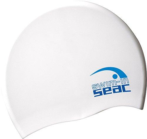 SEAC, Cuffia in Silicone per Nuoto in Piscina Unisex Adulto, Bianco, Taglia Unica