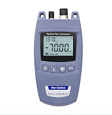 2 in 1 Fiber Light Tester with 6 Calibrated Wavelengths Optical Power Meter and 10mw Visual Fault Locator Function