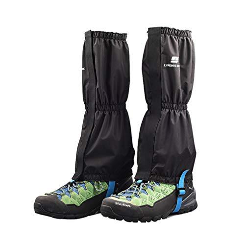 BESPORTBLE 1 par de Polainas Impermeables para Piernas Polainas de Montañismo Polainas para Botas de Nieve Al Aire Libre para Caminar Caminar Escalar Montañas (Negro)