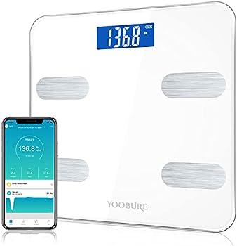 Smart Bluetooth Body Fat Bathroom Digital Weighing Scale, 400lbs