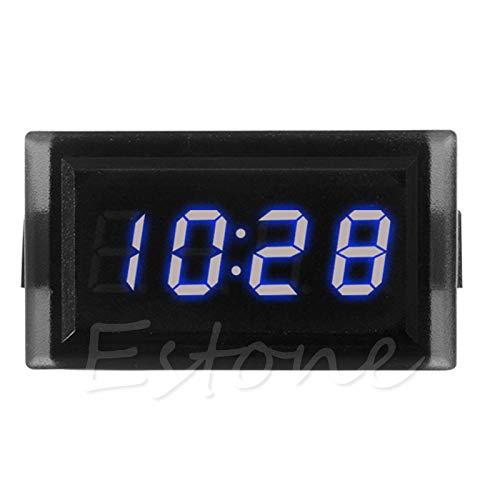 ZJL220 DC 12V Digital RGB Armaturenbrett wasserdichte Auto Clock Time für Auto Motorrad Blau