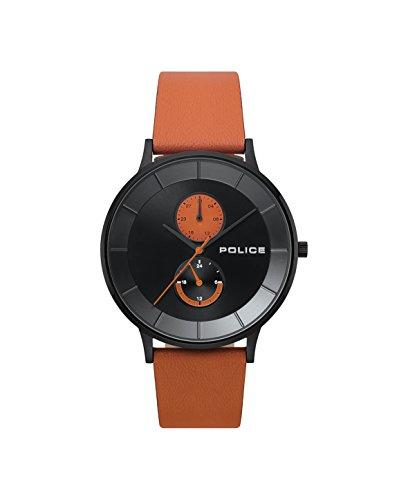 Police Herren Multi Zifferblatt Quarz Uhr mit Leder Armband PL.15402JSB/02