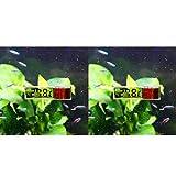 QPOLLY Ermómetro de Acuario, Medidores Termómetro Acuario LED Plata Inductivo Termógrafo Precisa para FríA Tropical Tanque Peces Marinos con Sensor de Temperatura para Acuario/Refrigerador
