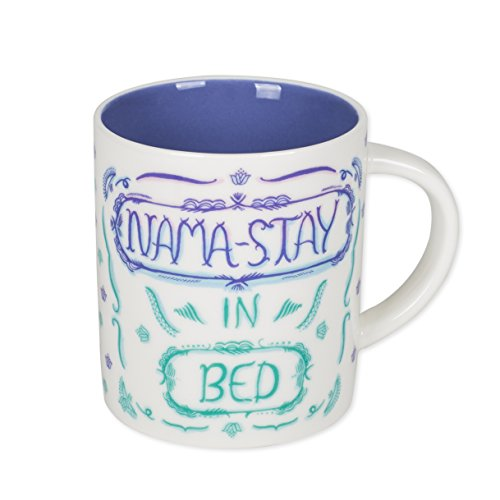 One Hundred 80 Degrees Nama-Stay in Bed Lotus Purple Green Ombre 12 Ounce Ceramic Coffee Mug,Multicolor