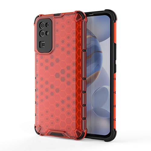 Phone case design FOR TL para Huawei Honor 30 HUCHO A Prueba de Golpes PC + Funda Protectora TPU Xiaomi (Color : Red)