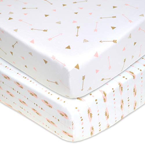 %36 OFF! American Baby Company 2 Pack Printed 100% Cotton Jersey Knit Fitted Crib Sheet for Standard...