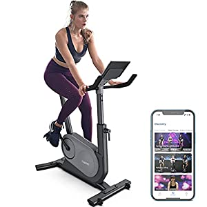 RENPHO AI Smart Exercise Bike Indoor Cycling Bike with Auto Resistance, FTP Power Training Stationary Bike for Home Gym, Bluetooth Connected Fitness Upright Bike Compatible with Zwift Peloton APP